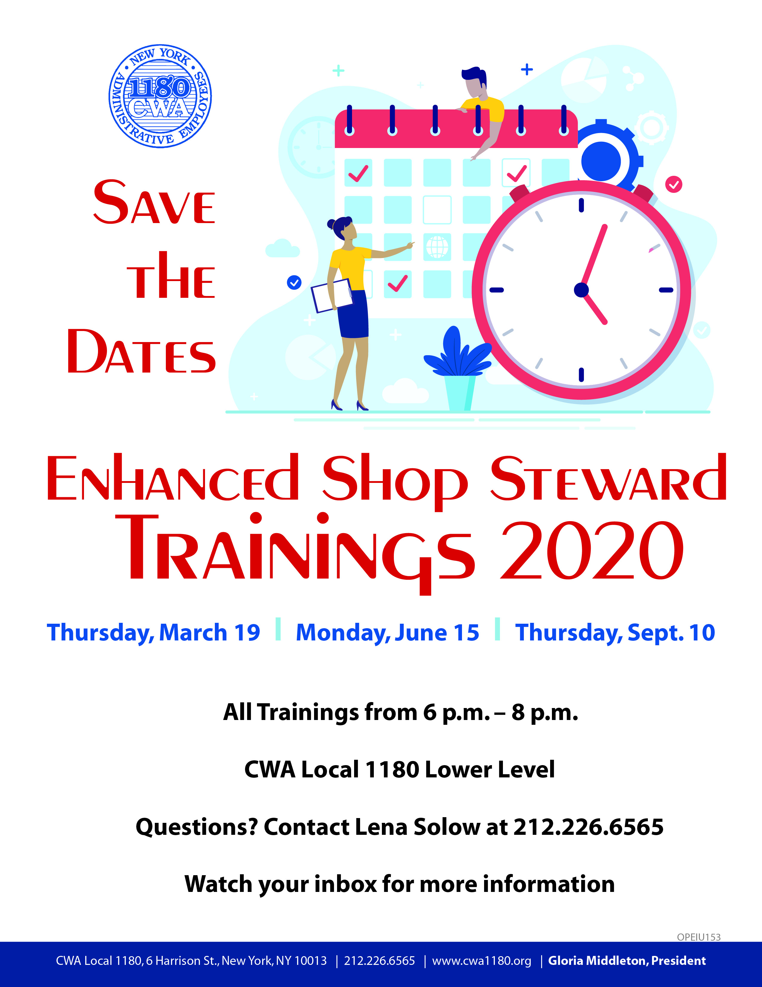 Shop Steward Training Save the Date 2020_01
