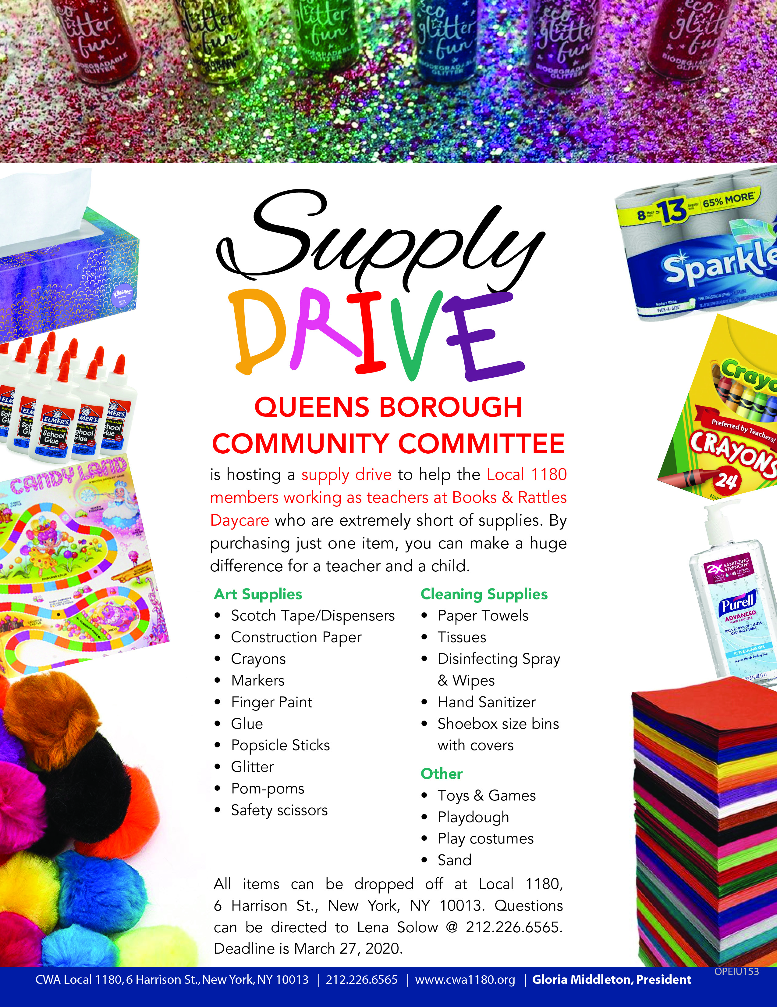Queens BCCC Supply DriveHR