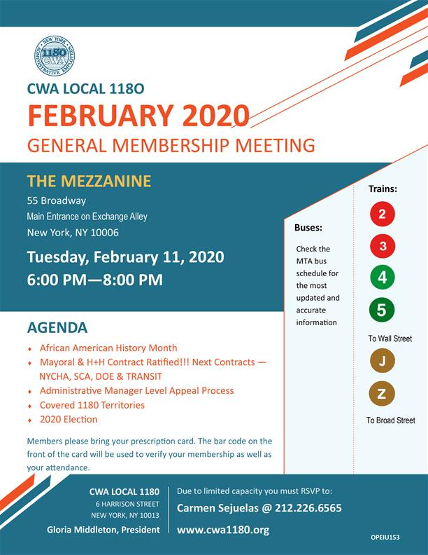 Feb membership meeting
